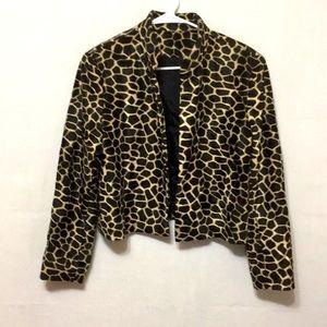Elliott Lauren Cropped Leopard Jacket